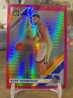 KLAY THOMPSON 2019-20 Donruss Optic 'Hyper Pink' Prizm Golden State Warriors