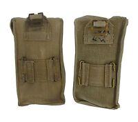 37 Pattern Pouches MKIII WWII Era Pair x2 Khaki Cotton Brass Ammunition Used WW2