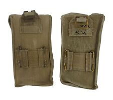 Pair 2 x GB British 37 Pattern Khaki Cotton MKIII Ammunition Pouch WWII Era Used