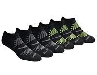 Saucony Men's Multi Pack Mesh Ventilating Performance Comfort, Black, Size 8.0 Y