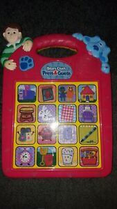 BLUE'S BLUES CLUES PRESS & GUESS ELECTRONIC INTERACTIVE LEARNING TEACHING GAME