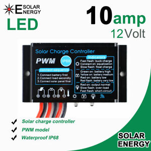 10A/20A solar Charge Controller Regulator 12V24V Waterproof IP68 Working Outdoor