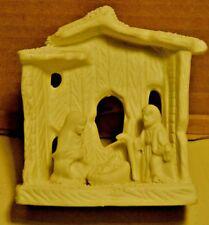 Small White Ceramic Nativity Christmas Display