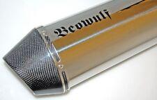 Honda NC700 X (12 >) Beowulf Silenciador De Escape Silenciador Stubby C/W tubo de enlace