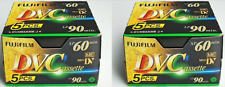 10 Pack Fujifilm Mini DV Camcorder Premium Tapes - SP 60min LP 90 min - NEW