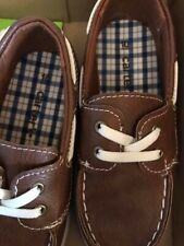 Carters Shoes Boys Size 10 Brown Slip On Loafers Toddler Boat Shoes Simon 2 New