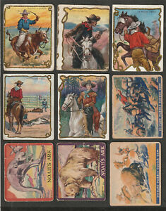 1933 - 1958 NON-SPORT TRADING CARDS LOT OF 34 DIFF.