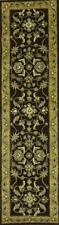 Hand-tufted Traditional Floral Mocha Brown Oriental Runner Rug Wool 9' 10 x 2' 6