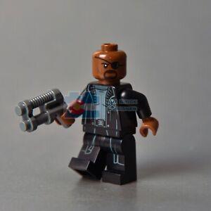 LEGO Nick Fury Captain Marvel Super Heroes Minifigure 76153 Avengers Helicarrier