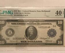 1914   $10 Federal reserve note, FR- 920 Richmond    district, PMG XF40 EPQ