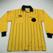 Soccer Referee Jersey Mens Large Official Sports Yellow Breathable Long Sleeve