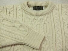 NEW Callan Country Collection Heavy Wool Fisherman Sweater Made in Ireland L