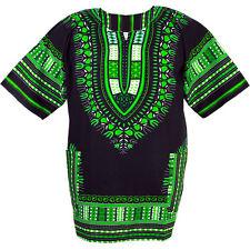 Cotton African Dashiki Mexican Poncho Hippie Boho Shirt Black Blouse ad14t