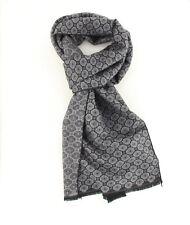 ManPlan® Herren Schal  Grau mit Muster 100% Viskose 180  x 30 cm Neu