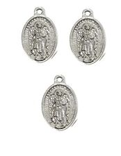 St Uriel Archangel Angel Amulet Pendant Charm Set of 3 w Pray for Us Inscription