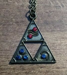"""The Legend of Zelda Triforce Pendant Necklace 20"""" Gaming Gift Idea - Video Game"""