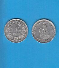 § Suisse Swiss Confédération Helvétique 1 Franc en argent 1939 Exemplaire N° 2