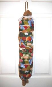 Bag Stuffer Plastic Grocery Bag Holder - Calico Farm  Cows Chickens and Pigs