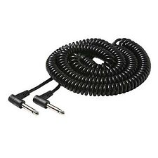 """Eagle 25' FT Guitar Cable 1/4"""" Inch Mono to 1/4"""" 6.3mm Mono Male Plug Coiled"""
