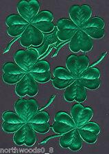CLOVER SHAMROC IRISH LUCKY PAPER EMBOSSED FOIL GREEN DRESDEN GERMANY FOURLEAF