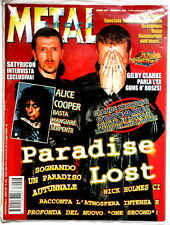 PARADISE LOST cover and article Metal Shock 246 year 1997 OZZY Alice COOPER