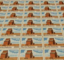 Us full mint sheet of 50 #2403 25¢ North Dakota folded once some faulty