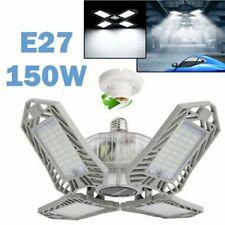 150W LED Garage Light Super Bright Shop Ceiling Lights Deformable 15000LM Bulb