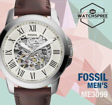 Fossil Grant Automatic Dark Brown Men's Leather Watch ME3099