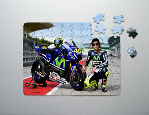 MOTORCYCLE RACING / GP - PUZZLES JIGSAW WITH BOX - A4 - FAMILY - BIRTHDAY