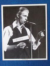 "Original Press Promo Photo - 10""x8"" - David Bowie - 1980's - Waistcoat"