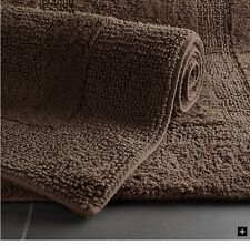 new restoration hardware carob brown reversible bath rugs nwt 30x50