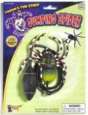 BLACK JUMPING SPIDER Big Bug Fake Prank Joke Gag Jump Hopping Cat Toy Fur