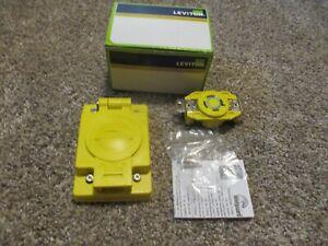 Leviton Single Locking Flush Mounting Receptacle 67W75 20 Amp, 250 Volt 3-Phase