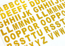 13,5 mm in Oro Chiaro VINILE ADESIVA lettere, alfabeto A-Z ADESIVI, bl84