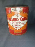 Antigua caja publicidad DE TOBLER CHIPS decorado vintage francesa