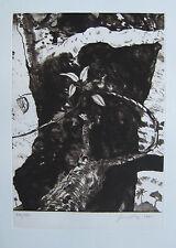 DIAZ GÉRARD GRAVURE 1990 SIGNÉE AU CRAYON NUM/150 HANDSIGNED NUMB/150 ETCHING