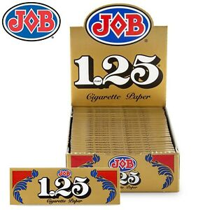 Full Box JOB Gold 1 1/4 1.25 Rolling Papers 24 Booklet (24 Paper Each)
