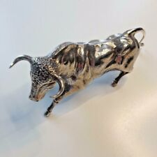 Sterling Silver Bull Antique Continental