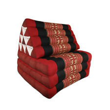Thai Three Fold Triangular Cushion - Red/Black (DM12)