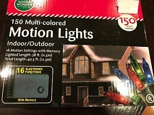 WINTER WONDER CHRISTMAS MOTION LIGHTS 150 MULTI-COLORED IN/OUTDOOR STRING LIGHTS