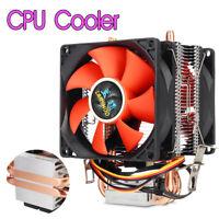 80mm Mini CPU Cooler 2 Heatpipe 2 Cooling Fan Radiator For LGA 775/1155/1156 AMD