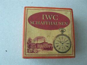 ADVERTISING SOUVENIR CARDBOARD BOX FOR IWC POCKET WATCH