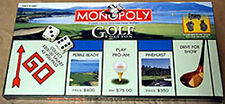 Golf Monopoly Board Game For Golfers New