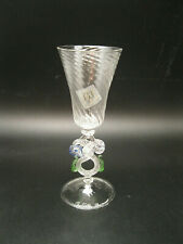 Beautiful Cortella Ballarin Murano Glass Single Hand Blown Goblet