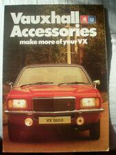 Vauxhall VX Accessories brochure Sep 1976