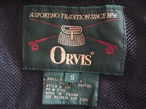 Orvis Jacket Small S Waterproof Windproof Rain Green