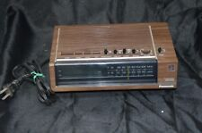 Vintage Alarm Clock Radio Panasonic Model RC 6050 Green Display 1970s Tested