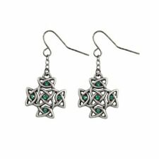 Dangling Earrings Set Everlasting Cross Celtic Jewelry Collection