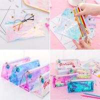 Holographic Laser Bag Pencil Pen Case Cosmetic Makeup Storage Pouch Zip Handbag