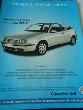 Publicté Advertising 1998  Nouveau Golf Cabrio WW